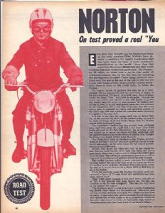 NORTON - DOMINATOR 88 ROAD TEST & NORTON FORKS REBUILD  - 1963 - RT6